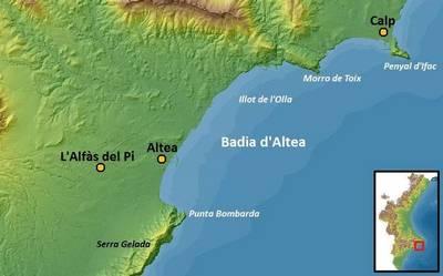 Mapa de la Bahía de Altea
