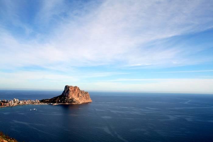 Vista de Calp desde el Morro de Toix