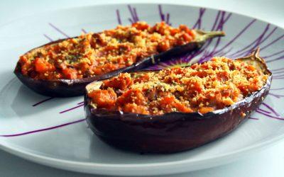Sabrosa receta de Berenjenas rellenas al horno
