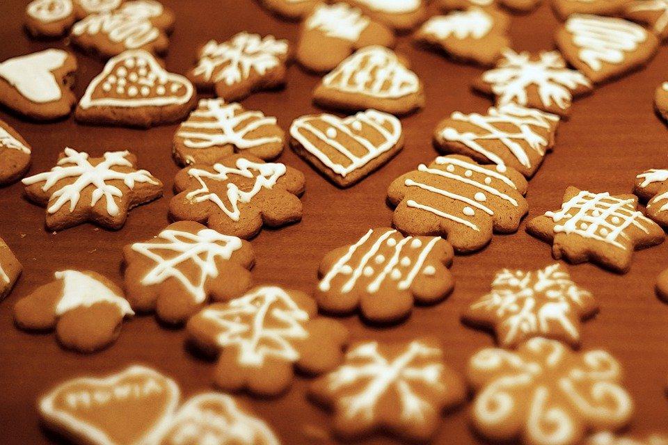 Galletas con formas navideñas