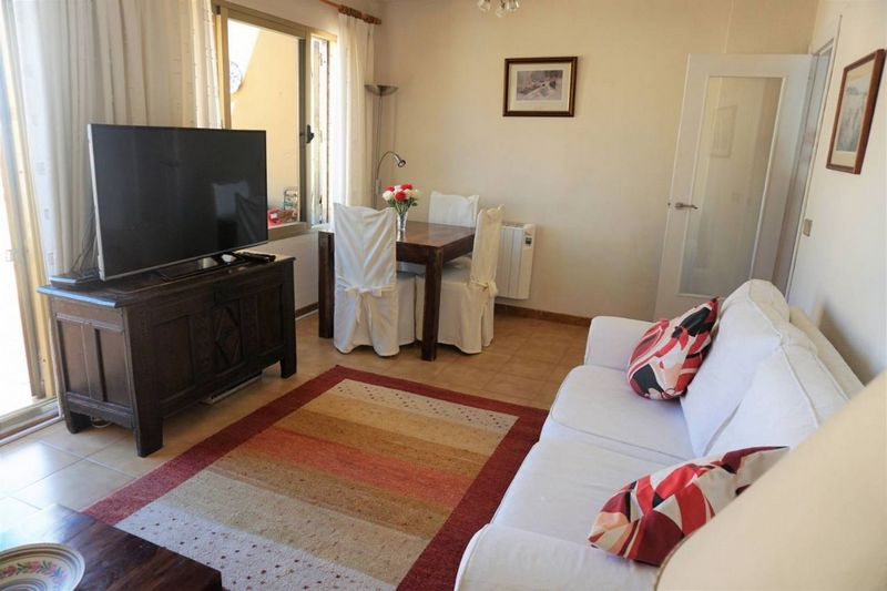 Salón del Apartamento con gran terraza en Calp