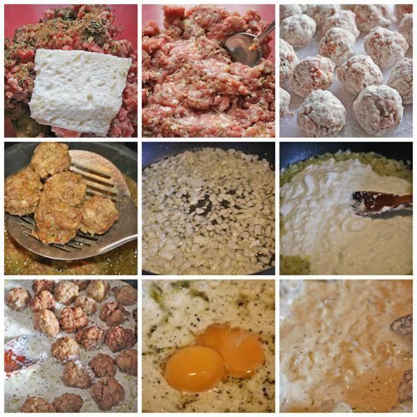 Pasos para elaborar albóndigas de cordero con salsa de yogur.